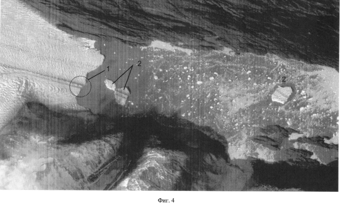 Способ определения места образования айсбергов выводных ледников