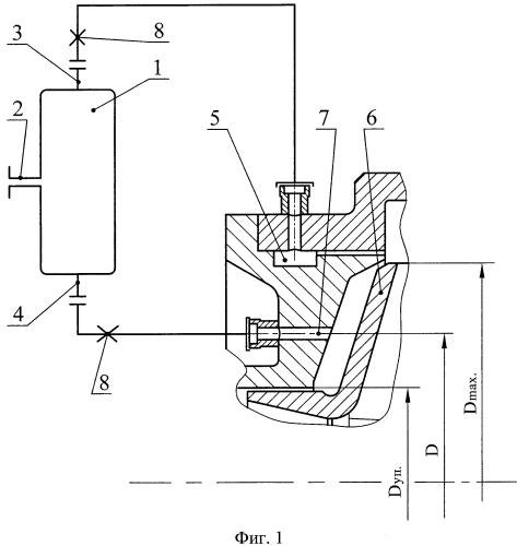 Устройство для обеспечения командного давления жидкостного ракетного двигателя с насосной подачей компонентов топлива