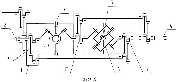 Дифференциальный механизм шуматова (варианты)