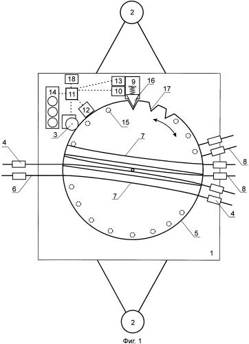 Устройство для переключения направления движения токосъемников троллейбуса в местах разветвления контактной сети