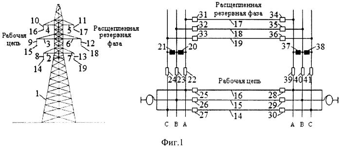 Устройство резервирования линии электропередачи