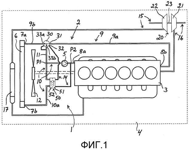 Система охлаждения и транспортное средство, содержащее такую систему охлаждения
