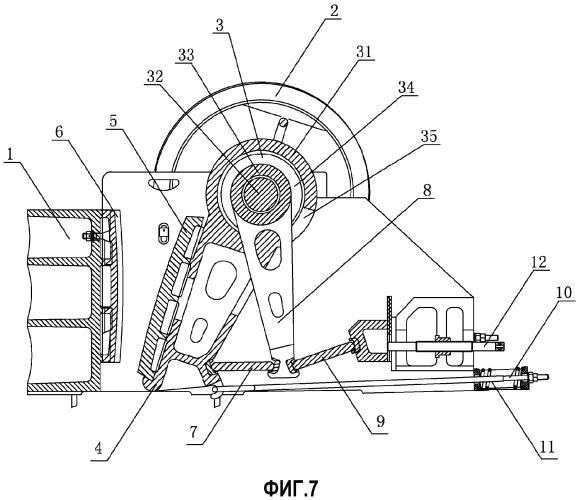 Щековая дробилка с двойным кривошипно-коромысловым механизмом