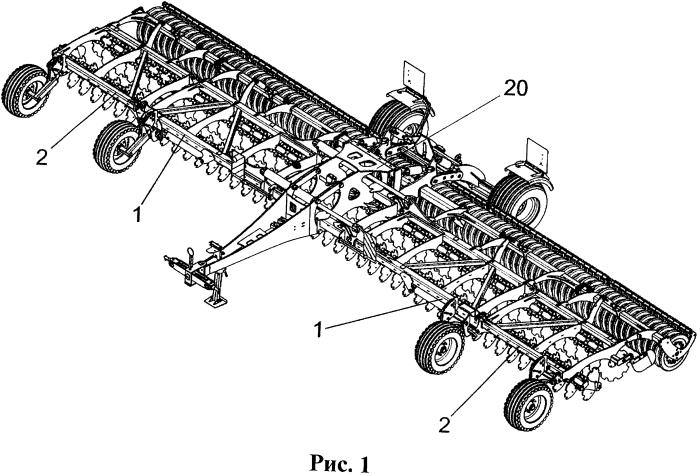 Устройство для складывания рабочих частей сельскохозяйственной техники
