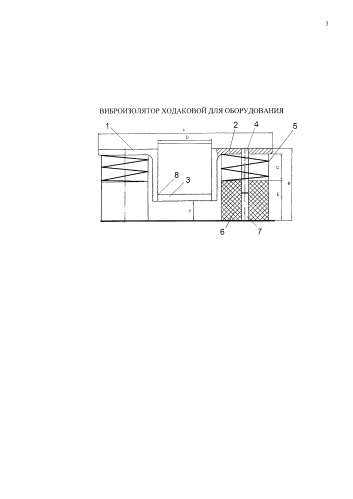 Виброизолятор ходаковой для оборудования