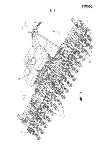 Высевающая секция для посевной машины, имеющая дозатор семян с обращенным вниз дозирующим элементом и системой доставки семян