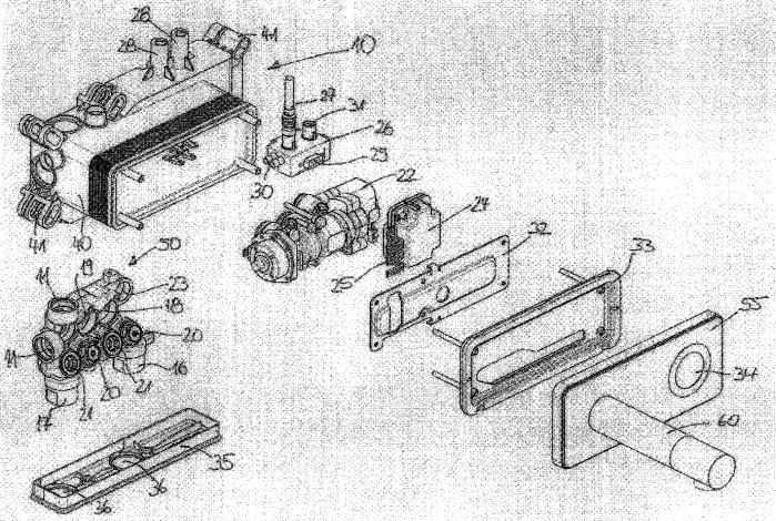 Монтажная коробка скрытой установки для имеющего выполненный с возможностью электронного управления узел регулировки температуры и расхода смесительного модуля