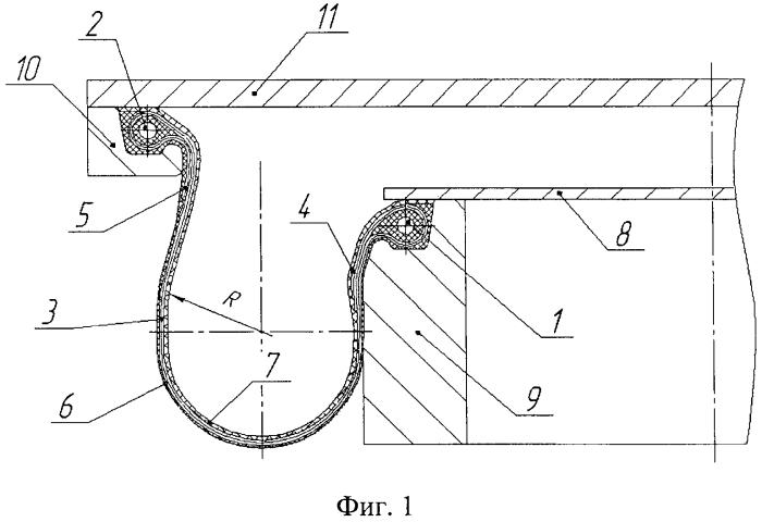 Резинокордный пневматический элемент