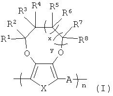 Катодно-окрашенные желтые растворимые электрохромные и светоизлучающие полимеры