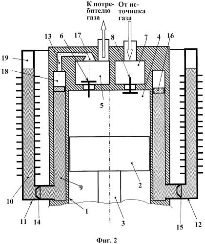 Поршневой компрессор с автономным жидкостным охлаждением