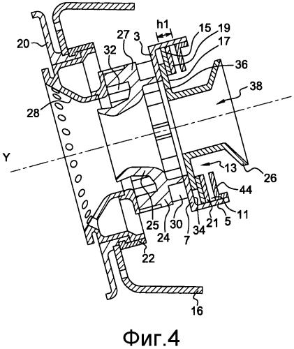 Система впрыска топлива для турбореактивного двигателя и способ сборки такой системы впрыска