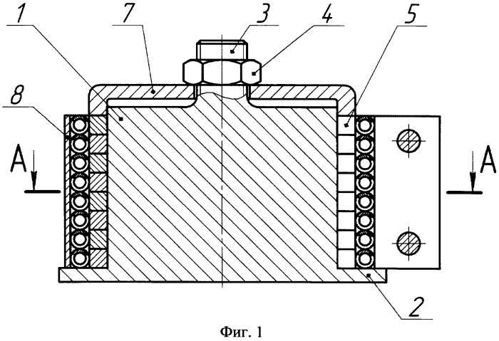 Устройство для термофиксации поршневых колец в пакете