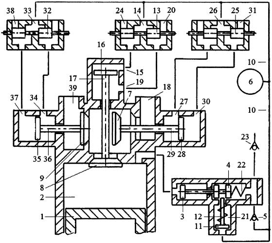 Способ реверсирования двигателя внутреннего сгорания стартерным механизмом и системой пневматического привода трёхклапанного газораспределителя с зарядкой пневмоаккумулятора системы воздухом из атмосферы