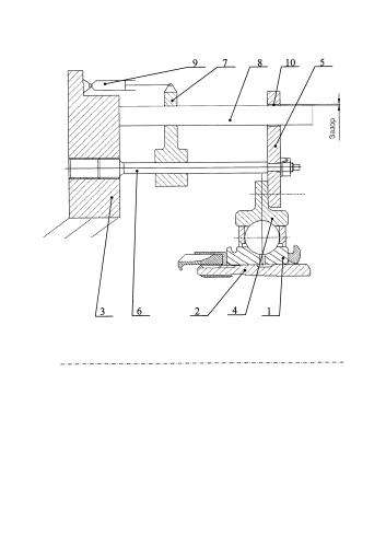 Упругая опора с регулируемой жесткостью для стендовых динамических испытаний роторов турбомашин