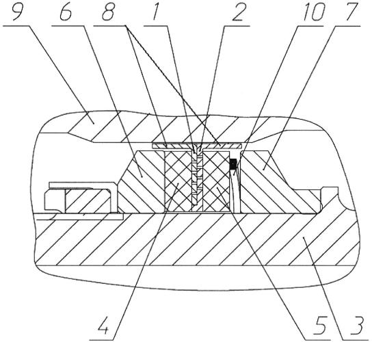 Радиально-торцевое уплотнение ротора турбомашины