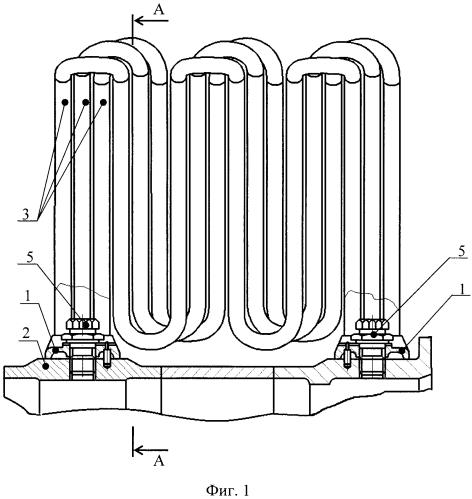 Секционный воздухо-воздушный теплообменник системы охлаждения турбины турбомашины