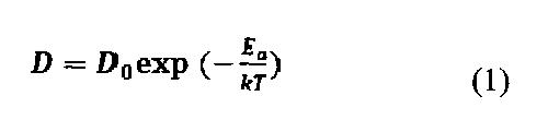 Способ определения коэффициента диффузии газов в твердых электролитах