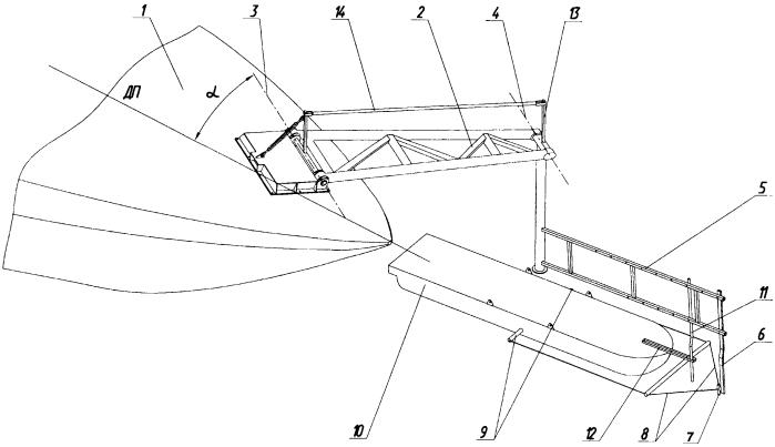 Устройство для буксировочных испытаний масштабных моделей надводных судов на открытом водоеме
