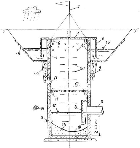 Дренажный колодец-поглотитель для приема и отвода поверхностных вод
