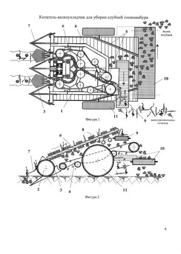 Копатель-валкоукладчик для уборки клубней топинамбура