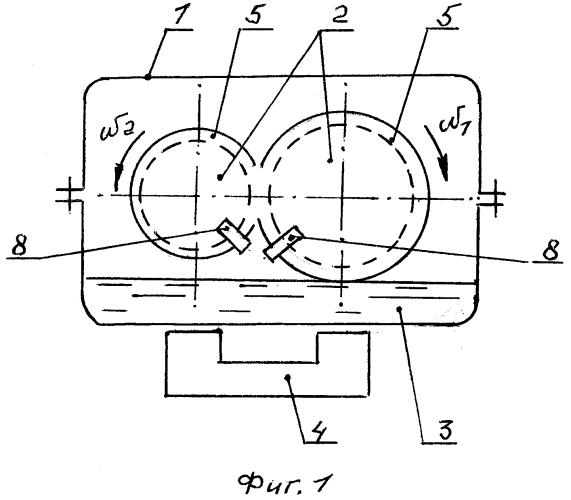 Смазочное устройство зубчатой передачи