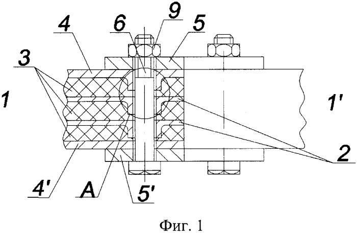 Соединение слоистых металлокомпозитных листов (деталей) и способ его выполнения