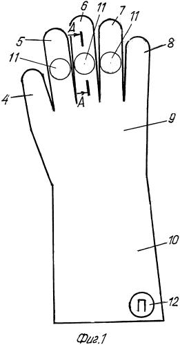 Защитная перчатка и способ ее использования