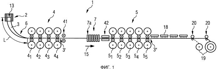 Способ и установка для энергетически эффективного изготовления горячекатаной стальной полосы