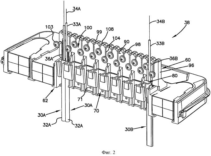 Система и способ крепления волоконно-оптических кабелей, обеспечивающие снятие механического напряжения