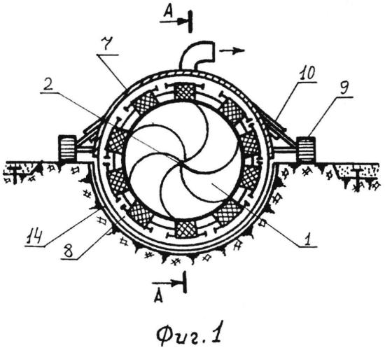 Устройство для выполнения монолитной облицовки канала