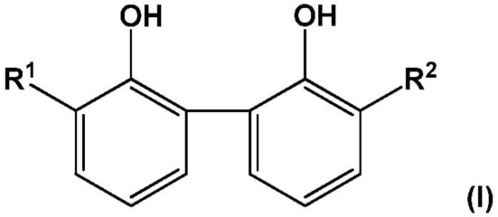 Композиции для ухода за полостью рта и за кожей на основе 3,3-диалкил-1,1-бифенил-2,2-диола или 3,3-диалкенил-1,1-бифенил-2,2-диола