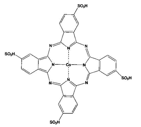 Гомогенные катализаторы окисления диалкилдитиокарбаматов на основе тетра-4-(1-бензотриазолил)-тетра-5-(сульфонафтокси)фталоцианинов кобальта