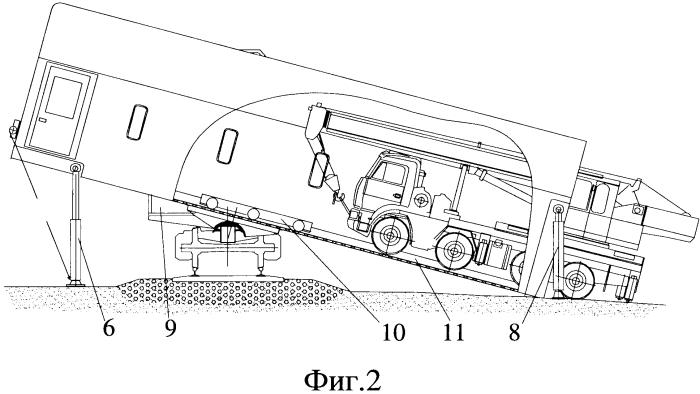 Вагон для перевозки самоходной техники