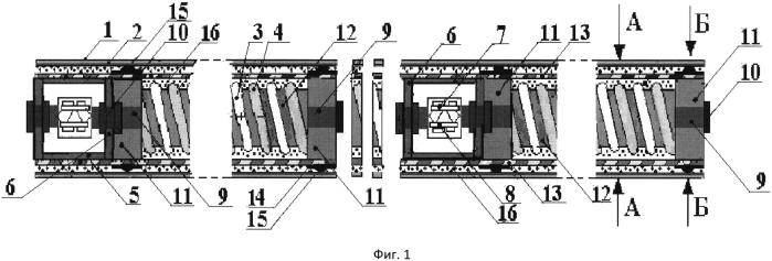 Гибкая протяженная приемная гидроакустическая антенна