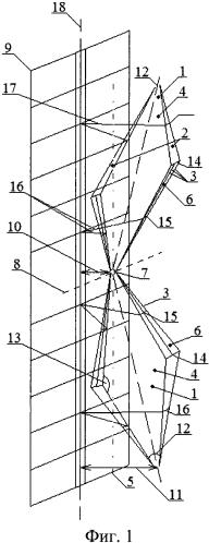 Широкополосная направленная зигзагообразная квазишунтовая антенна