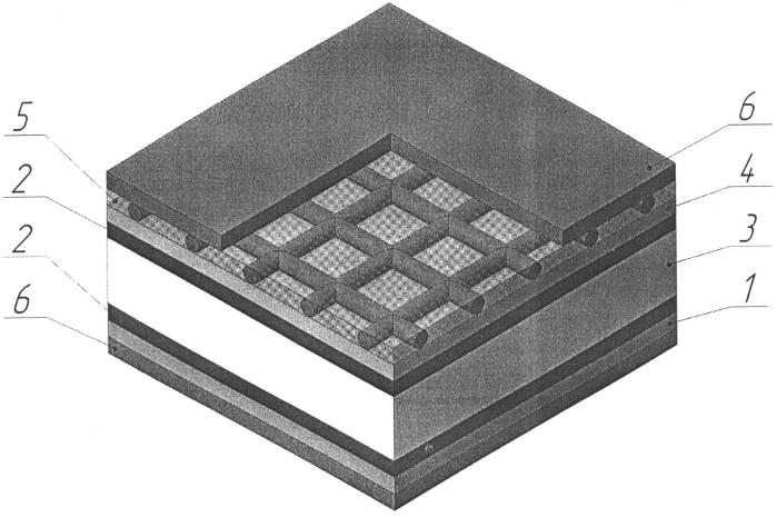 Слоистый поглотитель электромагнитных волн и способ его изготовления
