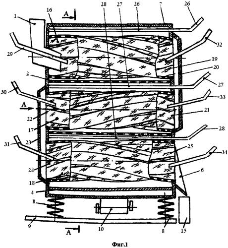 Машина вибрационная для выделения семян