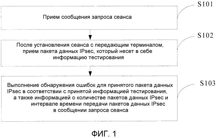Способ, устройство и система для тестирования сети при работе механизма ipsec