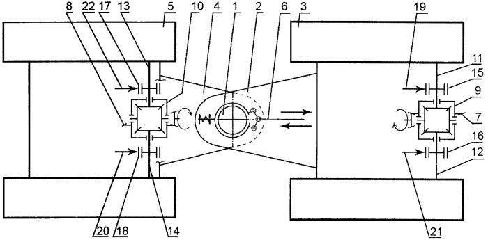 Устройство управления сочлененной двухтележечной гусеничной машиной