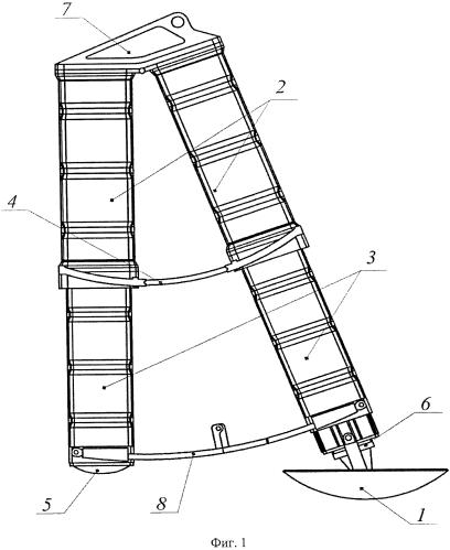 Посадочное устройство с краш-опорами для космического аппарата
