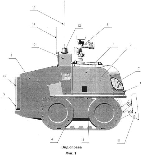 Мобильный роботизированный комплекс пожаротушения