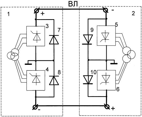 Устройство плавки гололеда на проводах и грозотросах вл