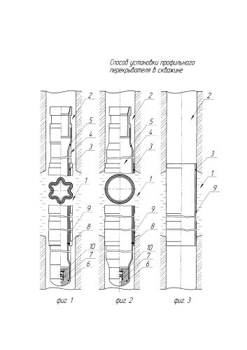 Способ установки профильного перекрывателя в скважине