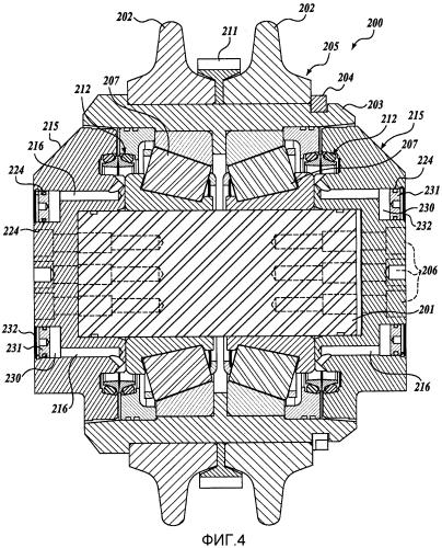 Компоновка шарошки с компенсацией давления для буровой тоннелепроходческой машины