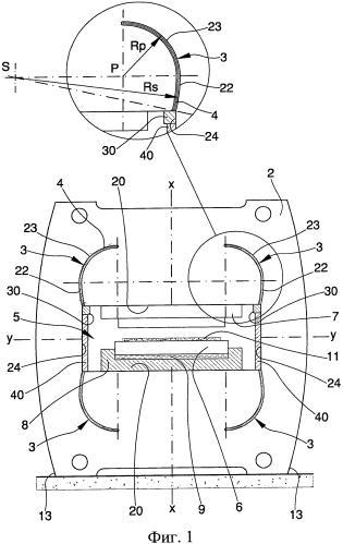 Конструкция для прессов, в частности, для формования керамических изделий