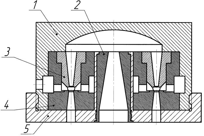 Струйно-кавитационный делитель потока жидкости