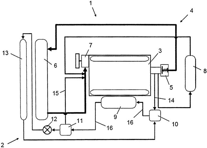 Система охлаждения двигателя внутреннего сгорания с наддувом