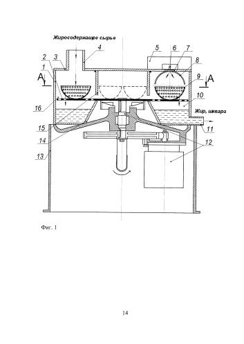 Центробежная установка для термообработки жиросодержащего сырья в электромагнитном поле сверхвысокой частоты