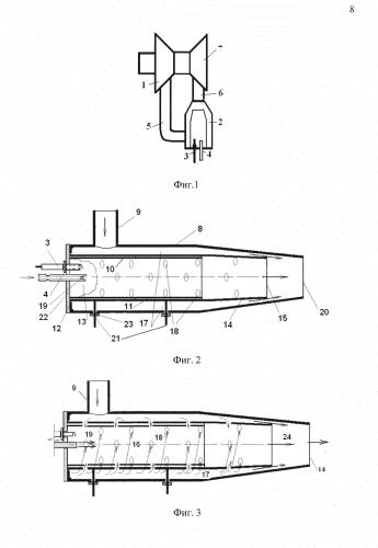 Устройство камеры сгорания с регулируемым завихрителем для микро газотурбинного двигателя, где турбиной и компрессором является турбокомпрессор от двс