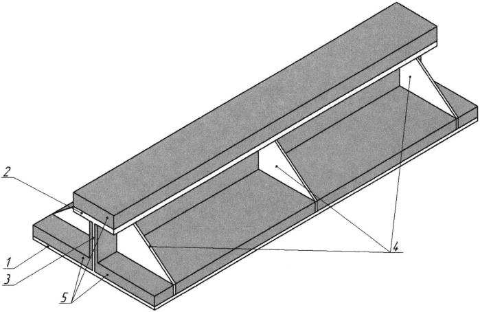 Промежуточная опорная фундаментная конструкция